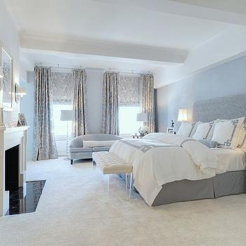 Greek Key Bedding, Traditional, bedroom, Eric Cohler Design