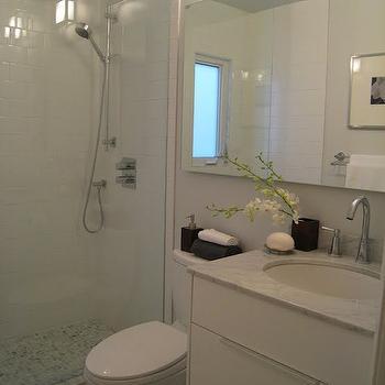 Bianca Carrara Marble, Contemporary, bathroom, Carol Reed Design