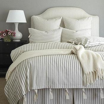 Paintbrush Ticking Flannel Bedding