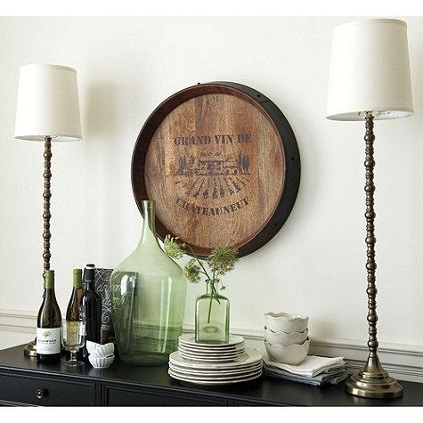 French Wine Barrel Brown Plaque