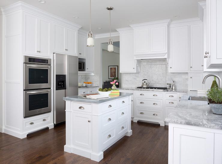 White Quartzite Countertops : Super white quartzite countertops transitional kitchen