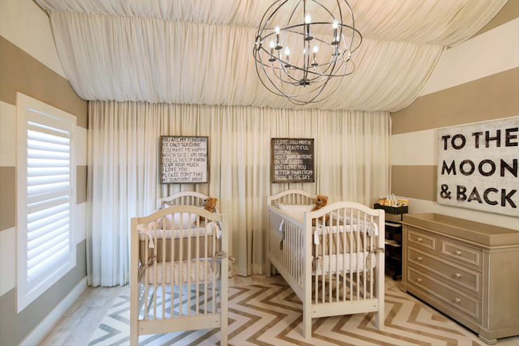 Striped Nursery Contemporary Nursery Benjamin Moore