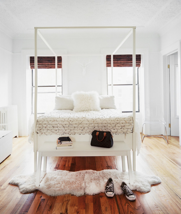 Accessories Ikea Sheepskin Rugs With Hardwood Floors  Ikea Poster Bed - Contemporary - bedroom - Lonny Magazine