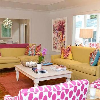Yellow Sofas View Full Size. Colorful Living Room ...