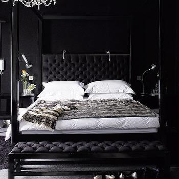 Black Bedroom, Contemporary, bedroom