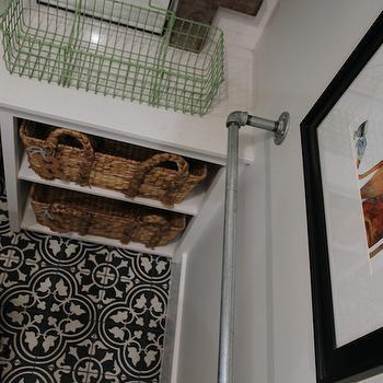 Quatrefoil Tiled Floor, Transitional, laundry room, Brown Eyed Fox