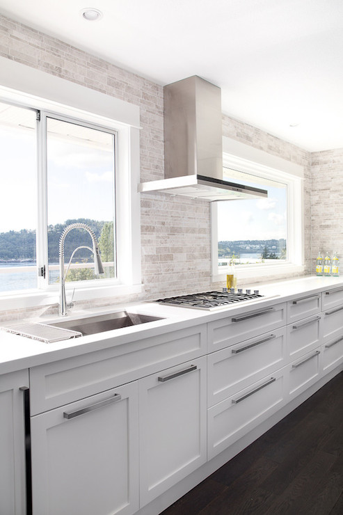 white modern kitchen cabinets no cabinets contemporary kitchen moeski design 1440
