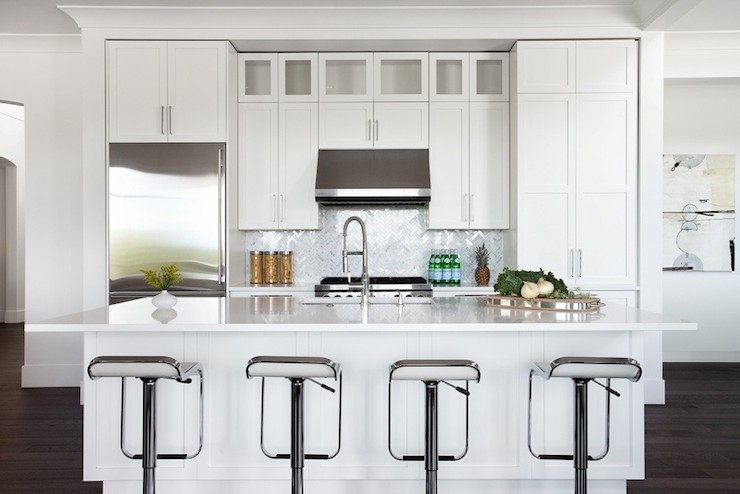 design kitchen agency white piston stools transitional kitchen moeski 919