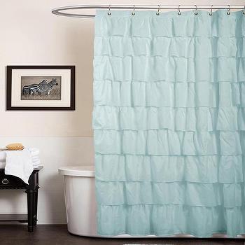 Lush Decor Ruffle Aqua Blue Shower Curtain, Overstock.com