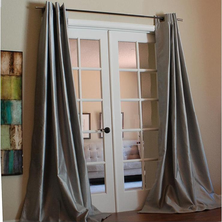 window curtains silk panels taffeta pocket pdp ruched single panel thermal treatments mcree rod curtain faux