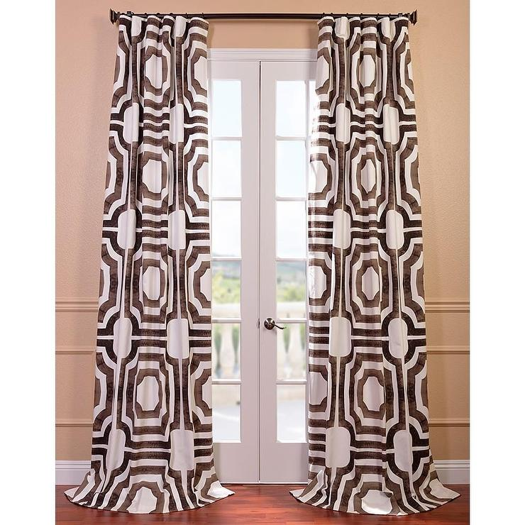 chocolate brown teal curtains curtain co pagefolio blackout and drop