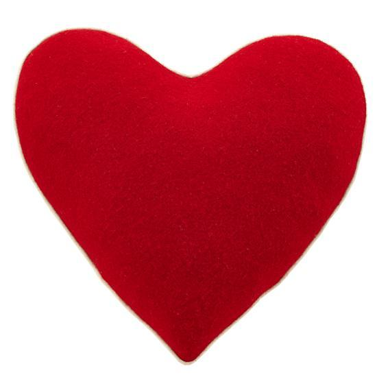 Red Heart Accent Pillow