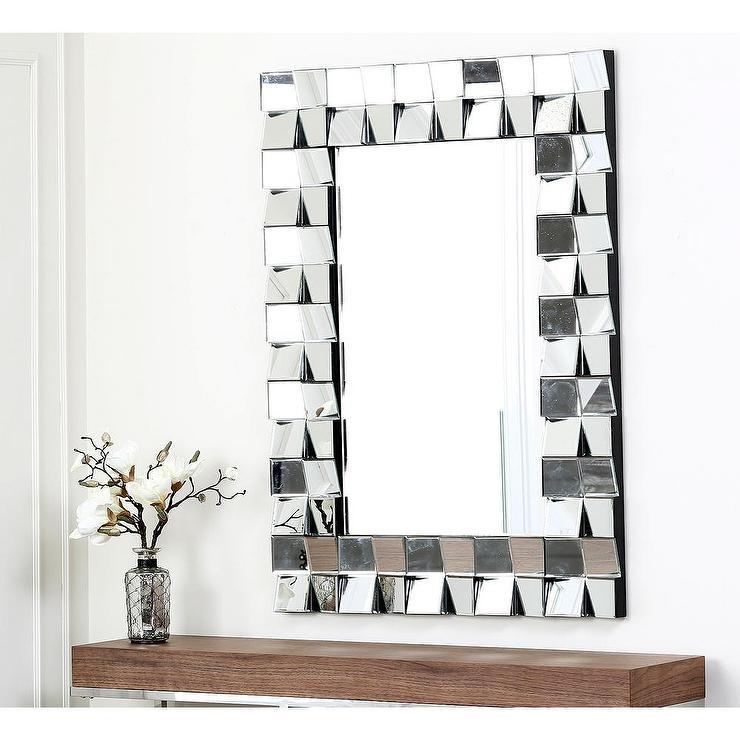 Abbyson Living Delilah Rectangle Silver Wall Mirror