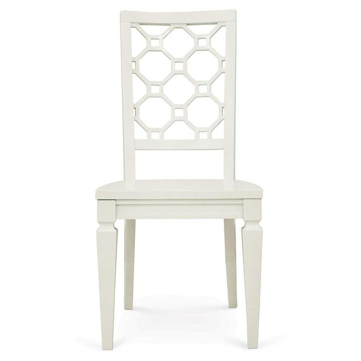 magnussen home furnishings cameron white desk chair view full size - White Armless Office Chair