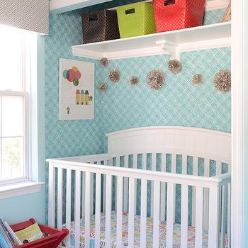 Crib in Closet, Contemporary, nursery, Finnian's Moon Interiors