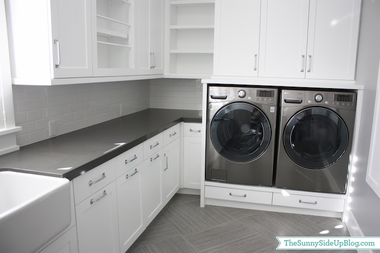 Built In Hampers Transitional Laundry Room Sunny Side Up
