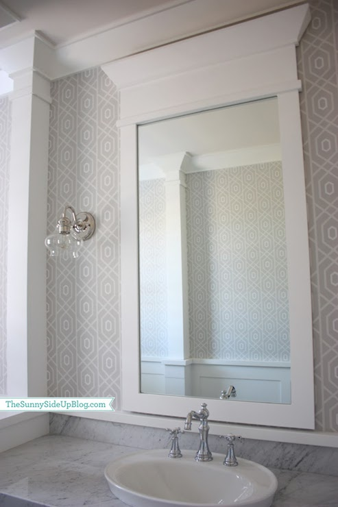 Thibaut designs geometric etosha wallpaper grey design ideas for Gray bathroom wallpaper