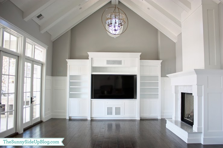 Good White Wood Entertainment Center Part - 10: Built In Entertainment Center