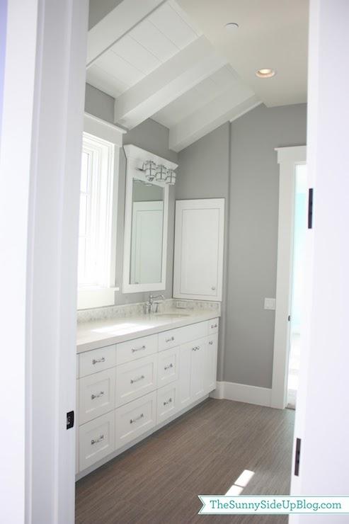 White Jack And Jill Bathrooms jack and jill bathroom design - transitional - bathroom