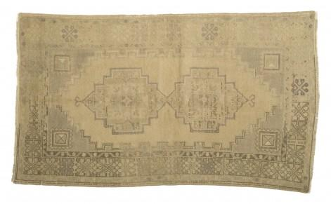 Antique Reproduction Citrine Amp African Jade Oushak Rug