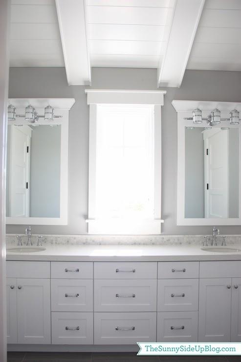 Caesarstone Organic White Transitional Bathroom Behr
