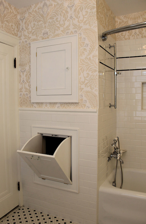 Laundry Chute Transitional Bathroom Isk Design And