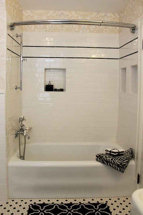Shower Niche Transitional Bathroom Isk Design And