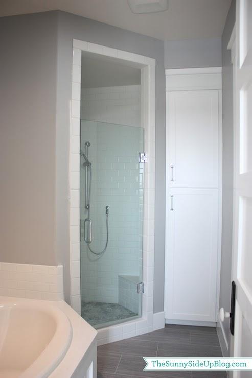 Corner Shower - Transitional - bathroom - Frazee Paint Seattle ...