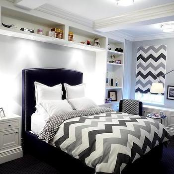 Chevron Duvet, Contemporary, boy's room, The Renovated Home
