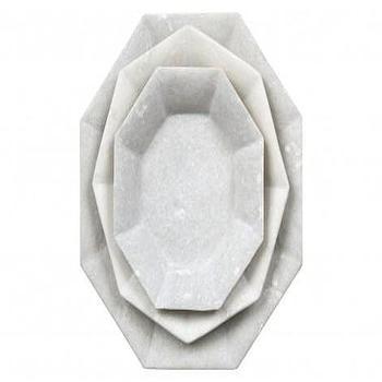 Octagon Marble Plates, Jayson Home