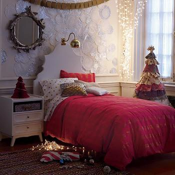 Faux Bois Mirror, Eclectic, girl's room, Land of Nod