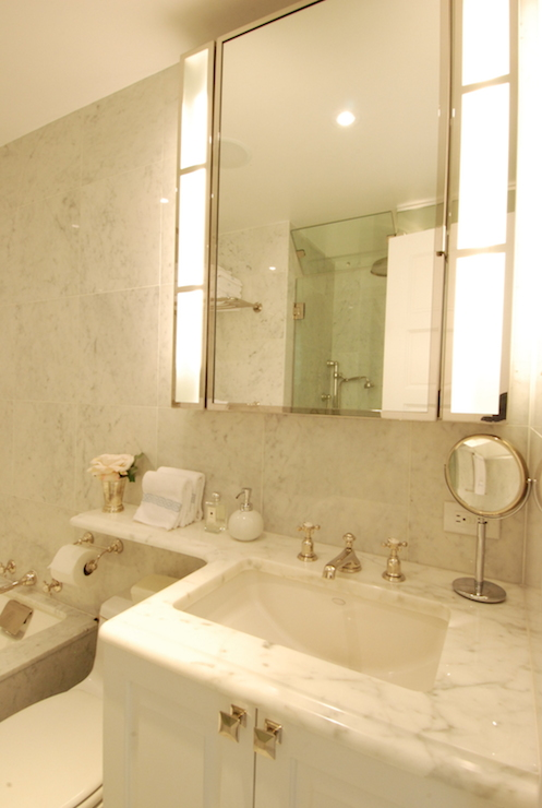 Shelf over Toilet - Transitional - bathroom - The ...