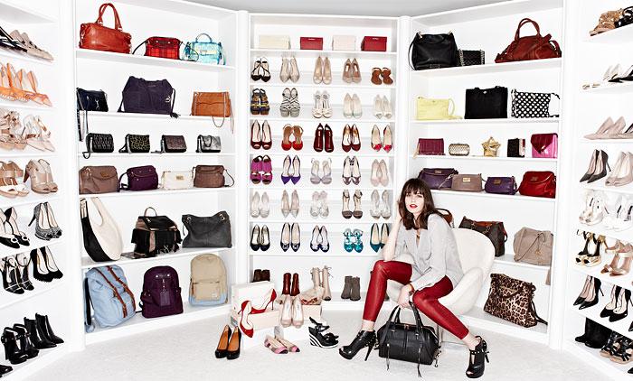Bag And Shoe Closets Contemporary Closet