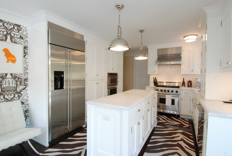 Zebra Rugs - Contemporary - kitchen - The Renovated Home