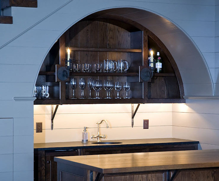 Under The Stairs Bar Transitional Kitchen The Berry