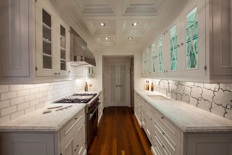 Frosted Glass Pantry Doors Transitional Kitchen The