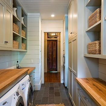 Galley Laundry Room, Country, laundry room, The Berry Group