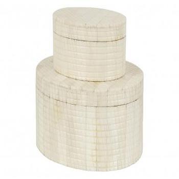 Bone Oval Boxes, Jayson Home