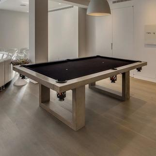 James De Wulf White Concrete Ping Pong And Dining Table