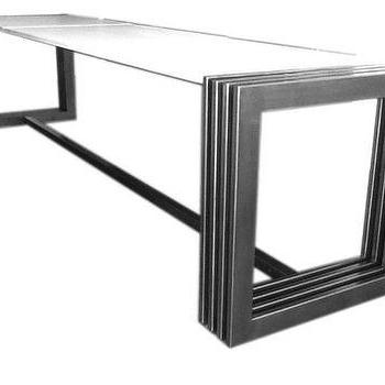 James De Wulf Engagement Grey Dining Table
