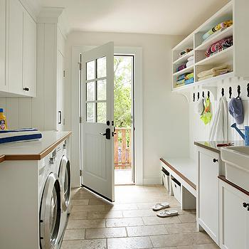 Long And Narrow Mudrooms Cottage Laundry Room Style