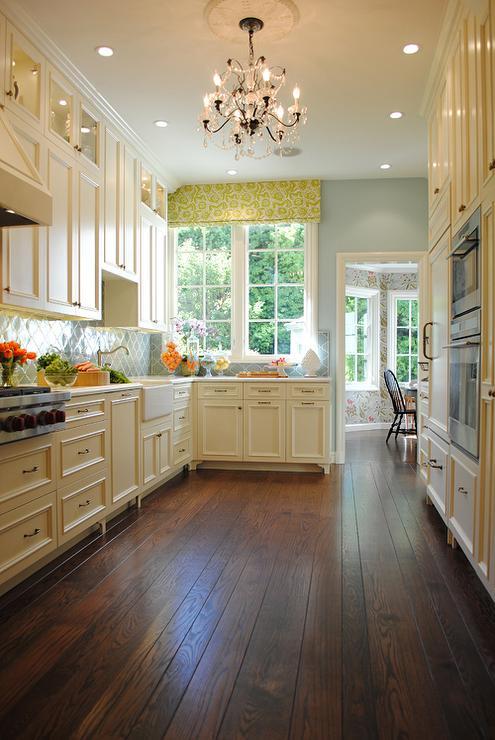 wonderful yellow kitchen walls cream cabinets | Cream Cabinets - Contemporary - kitchen - Nest Design
