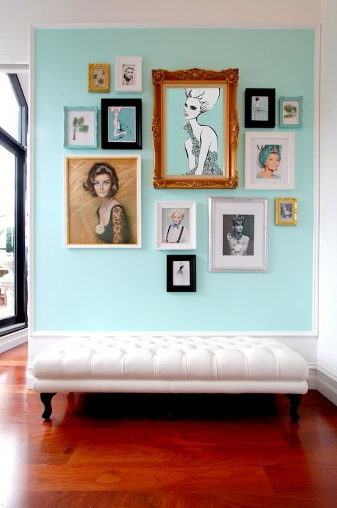 Turquoise Accent Wall