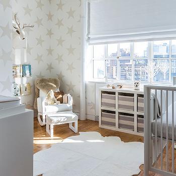 Nursery With Acrylic Bookshelf Design Ideas