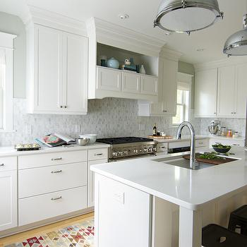 Frosty Carrina Countertops, Transitional, kitchen, Sherwin Williams Aloof Gray, Curbly