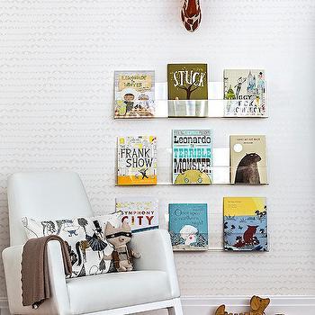 Acrylic Book Ledges, Contemporary, nursery, Sissy and Marley