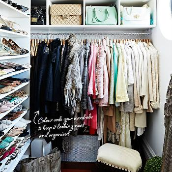 Handbag Cubbies, Transitional, closet, Megan Hess