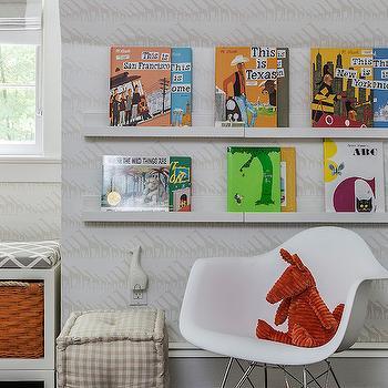 Ikea Book Ledge, Contemporary, nursery, Sissy and Marley