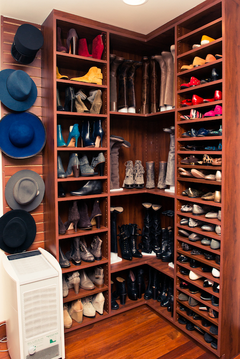 Floor To Ceiling Shoe Shelves Design Ideas
