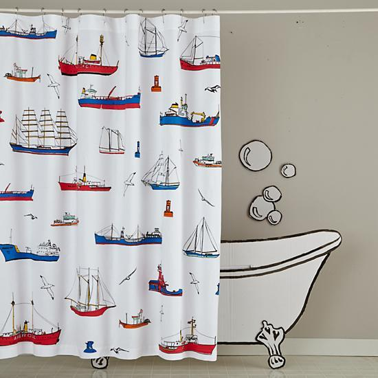 Red blue shower curtain curtain menzilperde net for Red white and blue bathroom accessories